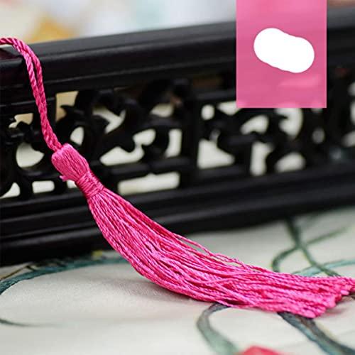 Borla de Seda de poliéster con Flecos de 12,5 cm, Adornos de borlas de algodón para Coser...