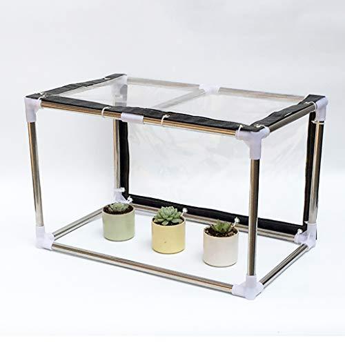 LIZIWS Greenhouse Mini-Gewächshaus Saftige Kleine Pflanze Isolierung Schuppen Thick Transparente Weich Glass Film 4-Nadel-Sonnenschutz (Size : 90X30X30CM)