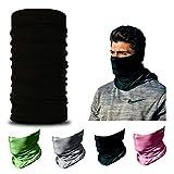 ARMORAY Face Mask Balaclava Neck Gaiter Reusable Washable Bandana Headwear Headband for Men & Women Hiking Cycling Fishing Masks (Black)
