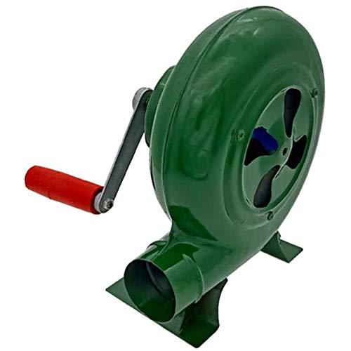 Blowers Ventilador de Manivela de 350w Ventilador de Barbacoa Ventilador Manual Ventilador de Aire Conveniente Ahorro de Energía para Acampar Picnic Actividades al Aire Libre