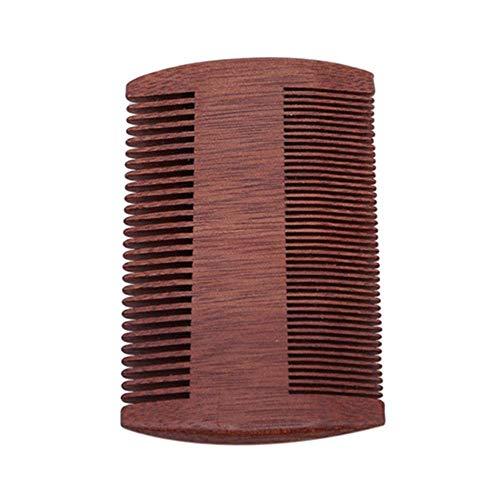 Peigne en bois de santal naturel super étroit anti-poux anti-statique pour barbe et cheveux