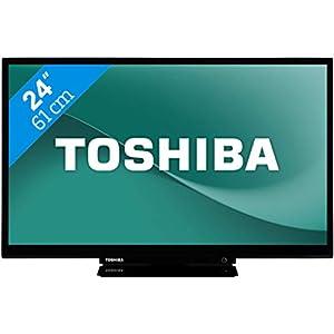 Toshiba 24W3754DG Televisor, led, de alta definición, 24 pulgadas, 16/9, 1366 x 768 píxeles, TDT y cable de alta definición, televisión de alta definición, wifi, Bluetooth, DLNA y HDMI, 600 Hz, blanco (