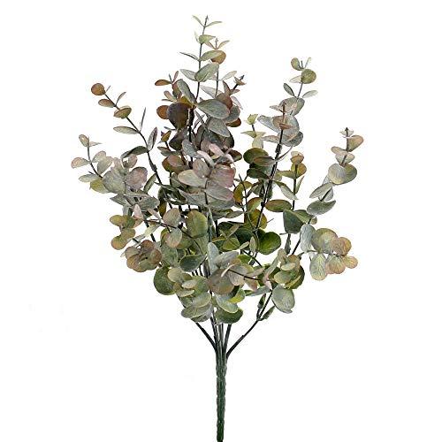 TGG Eukalyptus Busch x7 div. Farben, L 10/33cm, Kunststoff, Outdoor !!! (grün-violett)