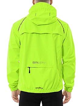 BALEAF Men s Cycling Running Jacket Waterproof Rain Windbreaker Reflective Lightweight Windproof Bike Golf Jacket Fluorescent Yellow Size XL