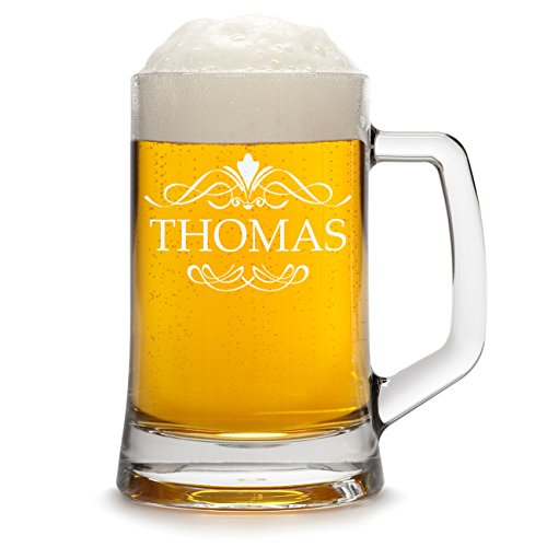 polar-effekt Bierkrug Personalisiert mit Gravur eines Namens - Bierseidel Geschenk zum Geburtstag Geschenkidee - Motiv Ornament 0,5l