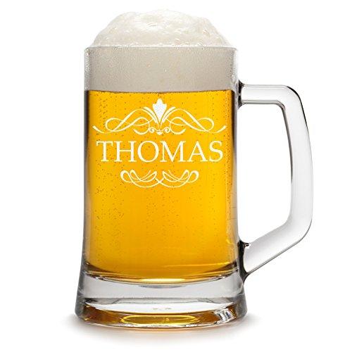 polar-effekt Bierkrug Personalisiert mit Gravur eines Namens - Bierseidel Geschenk zum Geburtstag Geschenkidee mit - Motiv Ornament 0,5l