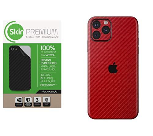 Skin Premium Fibra Carbono Vermelho Iphone 11 Pro Max