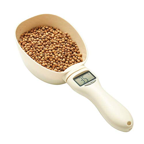 RoyalCare Pet Food Measuring Scoop Precise Dog Food Measuring Cup Detachable Cat Food Scooper Digital Scale Spoon with LCD Display for Measuring Pets Food, Five Measuring Units, Button Cell Powered ¡