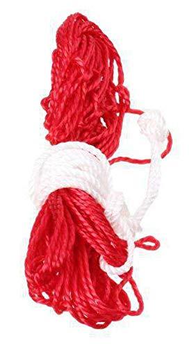 Schreuders Sr Deq Red para 5 Bolsa de balones Fútbol, Adultos Unisex, Multicolor (Rojo Blanco), Talla Única