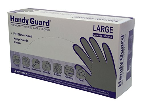 Adenna Handy Guard 4 mil Latex Powdered Gloves (White, Large)