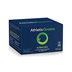 Athletic Greens Ultimate Daily is an all-in-one health drink with 75 vitamins, minerals, and whole food-sourced ingredients to help support your body's nutritional needs across multiple critical areas of health, including energy, immunity, recovery, ...
