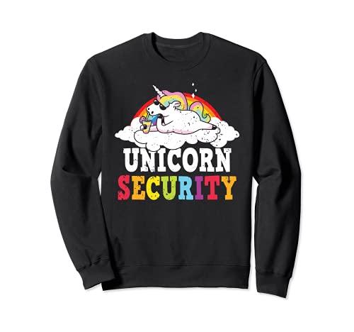 Unicorn Security Princesa Unicornio Mythtical Unicorn Lover Sudadera