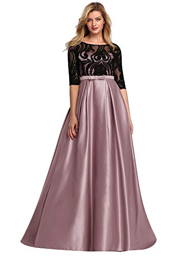 Ever-Pretty Women's Empire Waist Elegant Long Wedding Party Evening Dresses Mauve US12