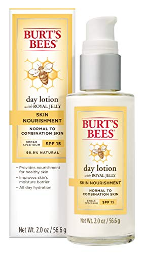 Burt's Bees Skin Nourishment Day Lotion with SPF 15 for Normal to Combination Skin, 2 Oz (Package May Vary)