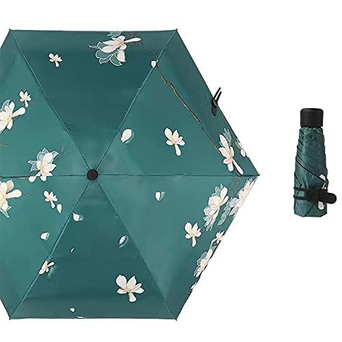 超軽量 折りたたみ 日傘 完全遮光 紫外線遮蔽率99% 超耐風撥水 小型 携帯しやすい 晴雨兼用 (花弁)