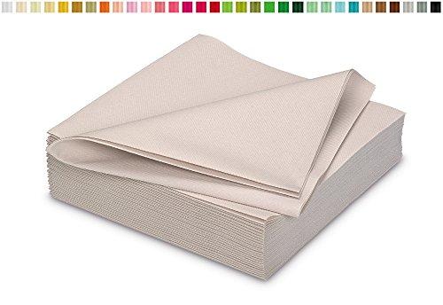 25 stoffähnliche Servietten 40x40cm in Premium Qualität ( sand / beige / natur 835 ) // saugstark perfekt für Hochzeit Party Geburtstag