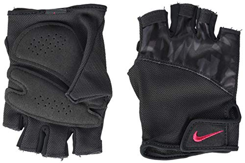 Nike - Guanti da Ginnastica da Donna con Stampa Elemental, 970, Donna, N.LG.D3.970.LG, Multicolore, Taglia Unica