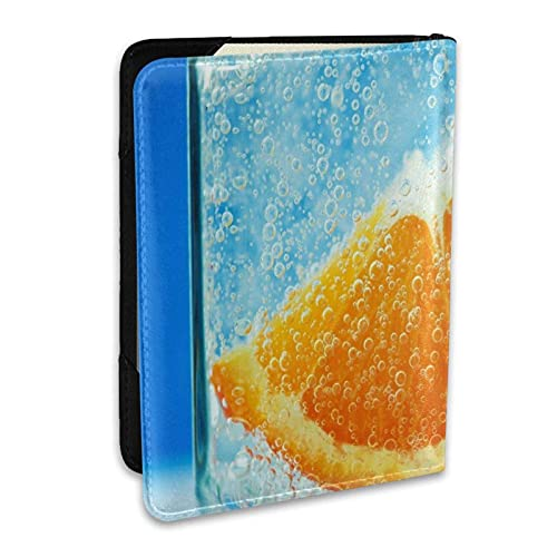 Reisepasshülle Schutzhülle Orange Nelke Wasser Flüssiges PU-Leder Reisebrieftasche Sperrkarte Brieftasche Reisepasshüllen 6,5 Zoll