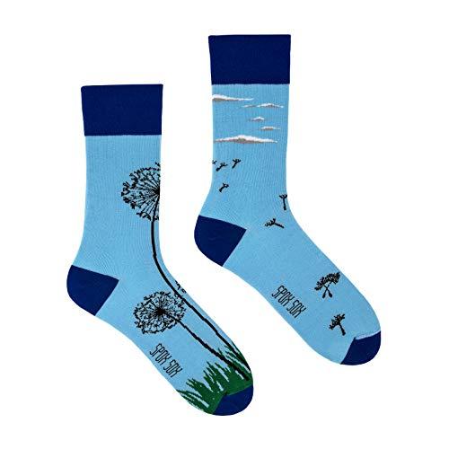 Spox Sox Casual Unisex - mehrfarbige, bunte Socken für Individualisten, Gr. 40-43, Löwenzahn