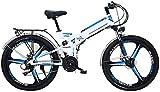 Bicicletas Eléctricas, 24/26 '' Bici de montaña plegable eléctrico con extraíble 48V / 10AH de iones de litio de 300 vatios de motor de bicicleta eléctrica E-Bici 21 de velocidad de engranajes y modos