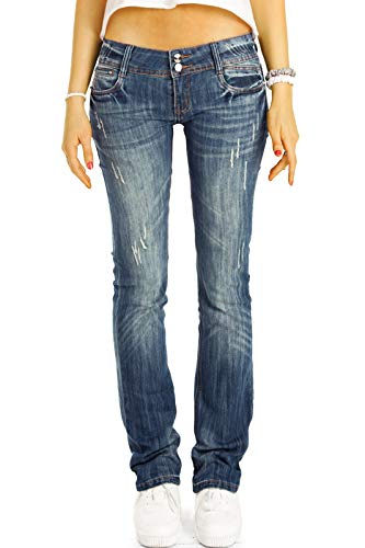 Straight Leg Low Rise Hüftjeans von be Styled