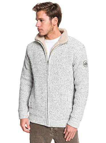 Quiksilver Boketto Sweat à Capuche Zippé Doublé Homme Light Grey Heather FR : M (Taille Fabricant : M)