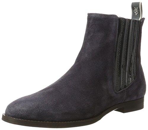 Marc O'Polo Damen Flat Heel 70714155001308 Chelsea Boots, Grau (Grey), 38 EU