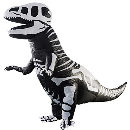 Amosfun Dinosaur Opblaasbare Kostuum Opblazen Skeleton T-rex Dinosaur Fancy Dresscosplay Suits Voor Kinderen Halloween Carnaval Thema Party Favors