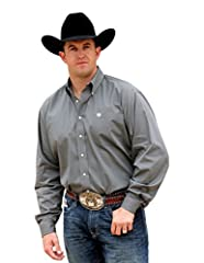 Extra long sleeves and tails Button down front, cuffs, and collar Single front open pocket Classic fit with extra room in the shoulders and chest Extra room in the body