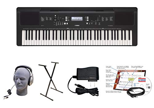 Yamaha PSR-EW310 EPY 76-Key Educational Keyboard Pack with Power Supply, Bolt-On Stand, Headphones, USB Cable, and Instructional Software, YAM PSREW310