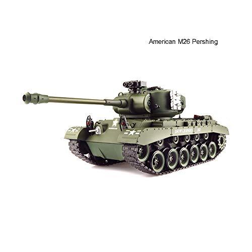 AEDWQ RC Remoto del Tanque De Control, American M26 Pershing Tanque De 2,4 GHz De Control Remoto Modelo De Escala 1/20, Plástico Metal Track /, Simulado Retroceso del Barril Telescopio /, Lanzamiento