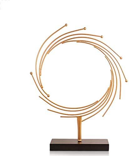 HEWEI Crafts moderne minimalistische abstract ijzer art deco creatieve woonkamer tv-kast decoraties (grootte: 54 * 11 * 63cm)