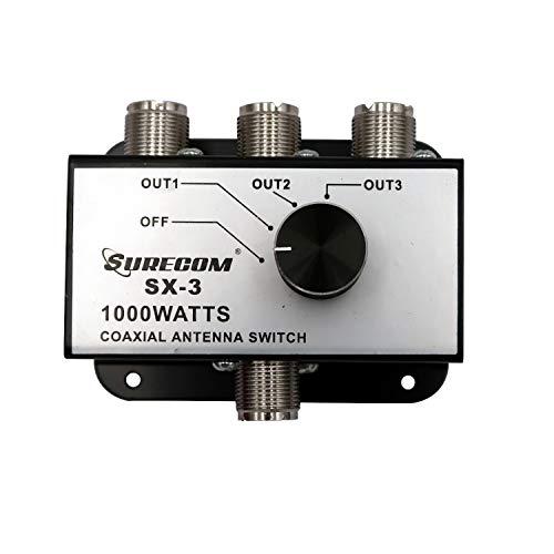 Mcbazel Surecom SX-3 1000W Adaptador de Conector de 3 Salidas Coverter CB Radio Antena Interruptor coaxial