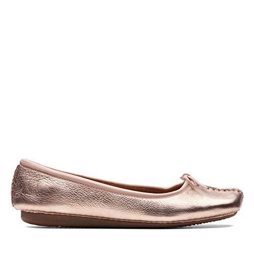 Clarks Freckle Ice, Bailarinas para Mujer, Dorado (Rose Gold -), 36 EU