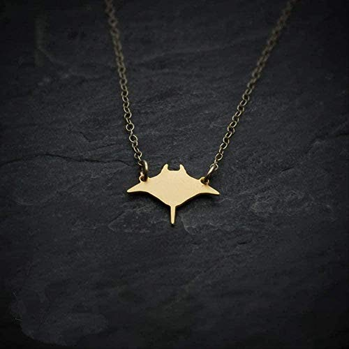 ZGYFJCH Co.,ltd Necklace Woman Necklace Manta Ray Fish Necklace Mini Charm Pendant Necklaces Jewelry for Men and Women