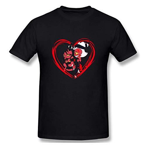 Kurzarmshirt Sweatshirts Tops, Moxxie & Millie-Hazbin Hotel Neuheit Kurzarm T-Shirt Schwarz