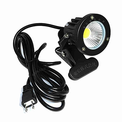 白色 昼光色 LEDクリップライト 小型 (PSE)規格品 防雨 防水型 7W スイッチなし コード長3m 看板用 黒板用照明 店舗看板用 店頭看板 LEDライト 電気スタンド デスクスタンド アームライト ピッコロライト アウトドア エクステリアライト