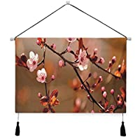 MISCERY タペストリー、日本の繁栄を開花させる桜の桜の木の枝、壁掛けタペストリー壁画 壁飾り 家 リビングルーム ベッドルーム 部屋 おしゃれ飾り モダンなアート