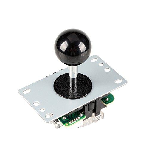 EG STARTS Arcade Klassische Wettbewerb 5 Pin Stick 4 - 8 Möglichkeiten Joystick Für Arcade DIY Kit Teile Video Spiel Mame Jamma Maschine Gaming Raspberry Pi Retropie Projekte (Schwarz)