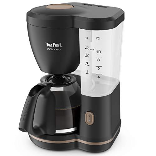 Tefal Includeo CM5338 Cafetera Goteo, con jarra de cristal de 1.25 L, soporte filtro extraíble fácil de limpiar, hasta 15...