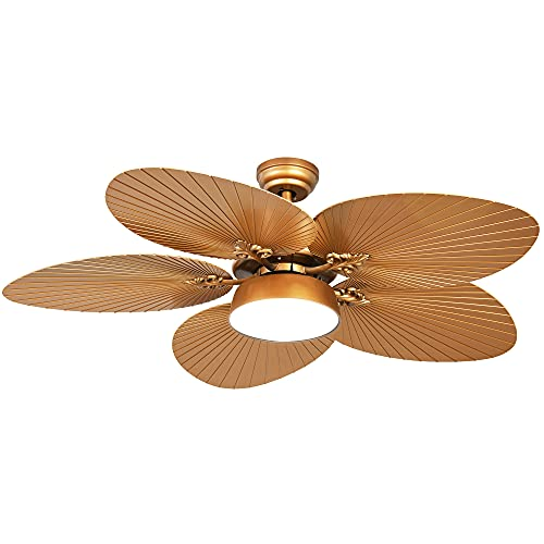 YITAHOME Tropical Ceiling Fan with LED Light and Remote Control, 52