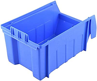 Aadvay Enterprises Supra Bin SB 4 Automotive, Electronic, Engineering Small Utilities Tools or Screws Plastic Storage Box (290 X 178 X 143 mm, Blue) -10 Pieces