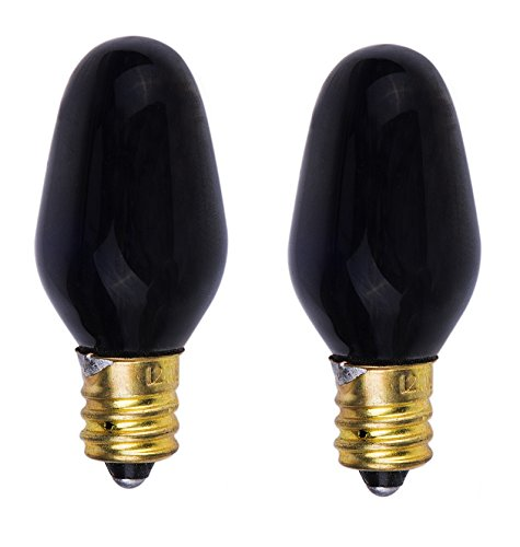 ShineBright Incandescent 5-Watt, Candelabra Based, Blacklight Bulb