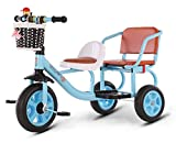 Ckssyao Triciclo para Niños Pequeños, Bicicleta de 3 Ruedas para Edades de 9 Meses a 5 Años, Scooter de Equilibrio de Bicicleta,Azul