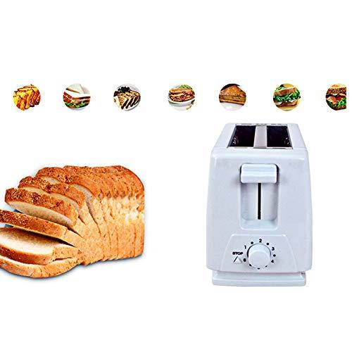 CHEN 4 Scheibe Automatische Toaster, Haushalt Toaster Sandwich Frühstück Maschine Mit Variabler Röstgradkontrolle Für Bagels, Waffeln, Brotsorten, Blätterteig-Gebäck, Snacks, Weiss
