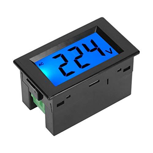 Voltímetro de pantalla digital, amperímetro digital LCD ABS a prueba de polvo, para(Single display black shell)