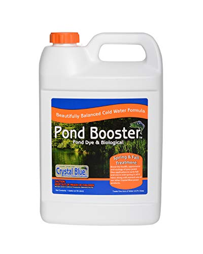 Sanco Industries Crystal Blue Pond Booster - Royal Blue Pond Dye & Bacteria Combo - 1 Gallon