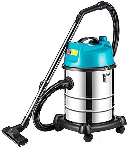 Aspiradora, 15 litros, 1400 W, aspiradora azul para oficina en casa, taller y aspiración de hoteles, agua absorbente y secado Máquina de succión de alfombras de cubo de tres propósitos Xuan - worth ha