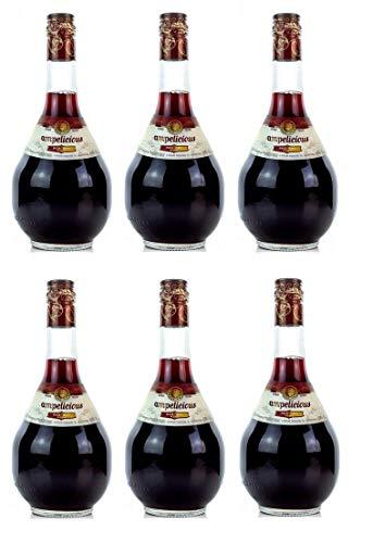 6x Ampelicious Rot trocken je 500ml 11% griechischer Wein in kleinen Flaschen Rotwein dry + Probiersachet 10ml Olivenöl