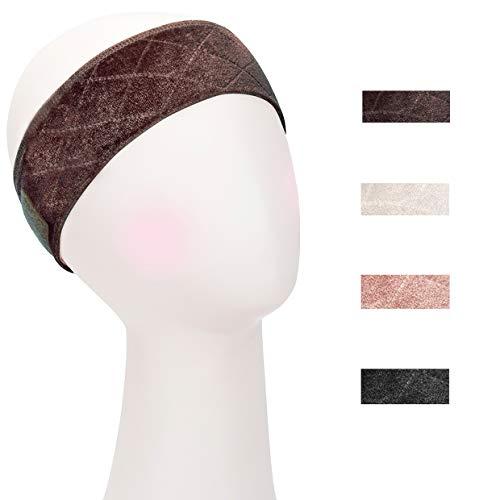Beyond Your Thoughts Haarnetz Haarband für Perücke Stirnband Wig Grip Verstellbar gute Elastizität Bequem und weich Perückenband rutschfest für Frau Braun